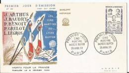Enveloppe Premier Jour - FDC - 1959 - Marthyrs Lycée Buffon  - Paris - FDC