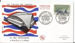 Enveloppe Premier Jour - FDC - 1959 - Palais National Des Industries Et Des Techniques   - Paris - FDC