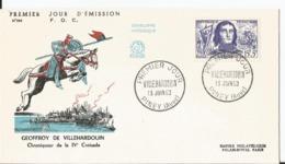 Enveloppe Premier Jour - FDC - 1959 - Geoffroy De Villehardouin  - Piney Aube - FDC