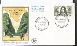 Enveloppe Premier Jour - FDC - 1959 - Le Nôtre - FDC