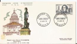 Enveloppe Premier Jour - FDC - 1959 -  David D'Agers - FDC