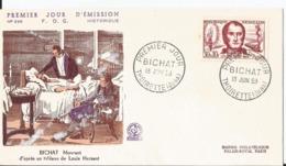 Enveloppe Premier Jour - FDC - 1959 -  Bichat - FDC