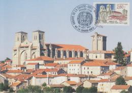 Carte  Maximum  1er  Jour   FRANCE   Abbaye  De   La   CHAISE - DIEU    1993 - Abbeys & Monasteries