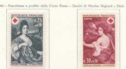 PIA  - FRANCIA  -  1968  : A Profitto Della Croce Rossa -  Quadri Di Nicolas Mignard   - (Yv  1580-81) - First Aid