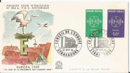 Enveloppe Premier Jour - FDC - 1959 -  Conseil De L' Europe - Europa - Strasbourg - FDC