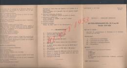 MILITARIA GUIDE TYPE DEPLIANT 5A 6A 7A SECTION ARMEMENT AMERICAIN LE FUSIL MITRAILLEUR CAL 30 7mm62 MODÉLE BAR 1918: - Documents