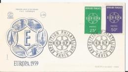 Enveloppe Premier Jour - FDC - 1959 - Exposition Philatélique - Europa -  Paris - FDC