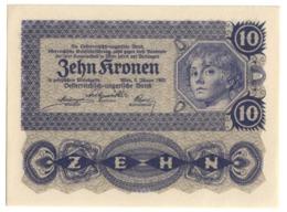 AUSTRIA10KRONEN1922P75UNC.CV. - Austria