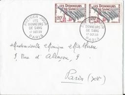 Enveloppe Premier Jour - FDC - 1959 - Donneurs De Sang - Paris - FDC