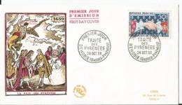 Enveloppe Premier Jour - FDC - 1959 - Traité Des Pyrennées - Paris - FDC