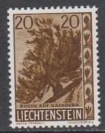 Liechtenstein 1960 Heimatliche Bäume 1v (20Rp Buche) ** Mnh (44964E) - Ungebraucht