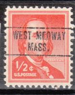 USA Precancel Vorausentwertung Preo, Locals Massachusetts, West Medway 748 - Vorausentwertungen