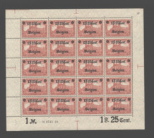 Belgien Nr.23 Im Bogen,xx (M1) - Besetzungen 1914-18