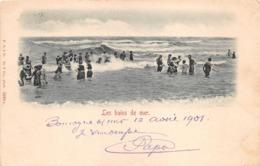 BOULOGNE SUR MER       LES BAINS DE MER    CARTE PIONNIERE - Boulogne Sur Mer