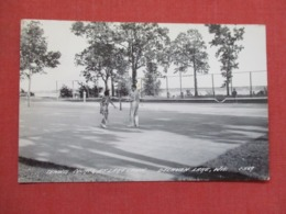 Tennis Courts At Lake  Lawn Delavan Lake Wisconsin  RPPC   >  -ref 3668 - Tennis