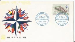 Enveloppe Premier Jour - FDC - 1959 - Xème Anniversaire De L' OTAN - - FDC