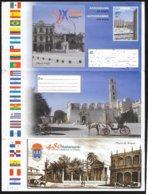 Cuba: Intero, Stationery, Entier, Carrozza, Architettura, Bandiere, Carriage, Architecture, Flags, - Stage-Coaches