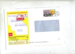 Lettre Port Paye Oenensingen Theme Montgolfiere - Poststempel