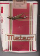 PAQUET CIGARETTES VIDE. METEOR . AVION - Empty Cigarettes Boxes