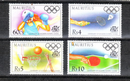 Mauritius   -  1996. Atlanta'96: Boxe, Basket, Badminton, Tennis Tavolo. Complete MNH Series - Summer 1996: Atlanta
