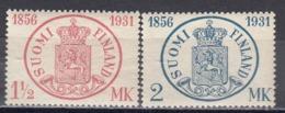 Finland 1931 - 75 Jahre Finnische Briefmarken, Mi-Nr. 167/68, MNH** - Finland