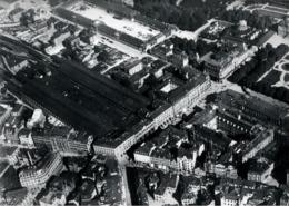 ! Stuttgart Alter Hauptbahnhof, Baden-Württemberg, Seltenes Luftbild , Nr. 48, Moderner Abzug, Format 18 X 13 Cm - Stazioni Senza Treni