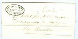 Lettre  Corrèze Cachet Messageries Générales De France  Direction De Tulle 1835 Pour Chibret Maitre De Postes Aurillac - Marcofilia (sobres)