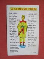 Chinese Poem  -ref 3668 - China