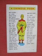 Chinese Poem  -ref 3668 - Cina