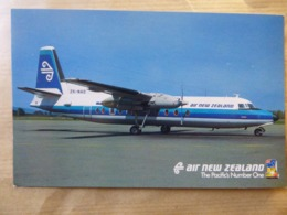 AIR NEW ZEALAND   FOKKER 27    AIRLINE ISSUE / CARTE COMPAGNIE - 1946-....: Moderne