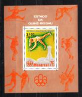 Guinea Bissau   - 1976.  Salto Con L' Asta . Pole Vault. Rare MNH Sheet - Estate 1976: Montreal