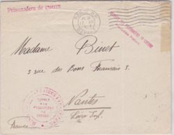 LSC - En Franchise / SERVICE DES PRISONNIERS De GUERRE / PARIS RP 1915 - Postmark Collection (Covers)