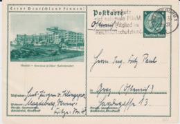 DR 3 Reich Ganzsache P 232 Bildpostkarte Stettin Gel Magdeburg 1933 - Allemagne