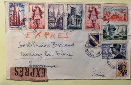 90011 - Lettre Exprès De Paris XV Pour La Suisse 16.07.1954 - France