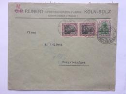 GERMANY 1922 Cover Koln To Burgsteinfurt - `M. Reinert` - Deutschland