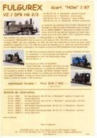 Catalogue FULGUREX 2010 Infoblatt VZ/DFB HG 2/3 Spur HOm 1:87 - En Français Et Allemand - Books And Magazines