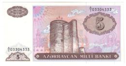 AZERBAIJAN5MANAT1993P15UNC.CV. - Azerbaïjan