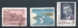 ARGENTINA 1963/1964 (O) USADOS MI-826+835+838 YT-675+683+685 VARIOS - Usati