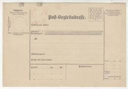 Austria Post-Begleitadresse Unused Parcel Card B191015 - Ganzsachen