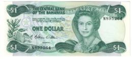 BAHAMAS1DOLLAR1974P43UNCWilliam C Allen Signature 43A.CV. - Bahamas