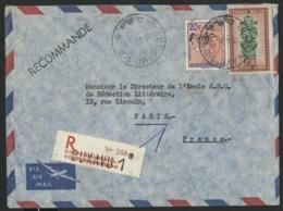 """CONGO BELGE """"BUKAVU-1 / D"""" Recommandé / Obl. Cachet à Date Sur N° 288 + 321. Sur Enveloppe Par Avion Pour La France. - Belgian Congo"""