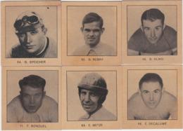 CHROMO'S-CYCLISME-ANNEES'30-LOT 6 PHOTOS-LES GEANTS DE LA ROUTE-DIM+-6 A 6CM-OLMO+REBRY+METSE+.VOYEZ LES 2 SCANS-TOP! ! - Cycling