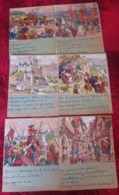 11 ANCIENNES PAGES EN CHROMO SCOLAIRES HISTOIRE DE FRANCE DEVOIRS QUESTIONS RÉPONSES & Images Chromos - Historia