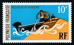 POLYNESIE 1971 - Yv. 82 **   Cote= 15,00 EUR - Sports Nautiques : Pêcheur De Marana  ..Réf.POL24325 - Neufs