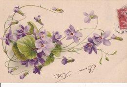 Violettes Lot De 7 CPA - Fleurs