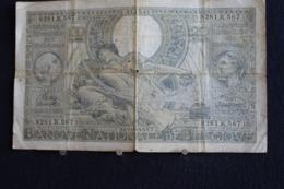 78 / Belgique - 100 Francs-20 Belgas, 1942 -   Nationale Bank Van Belgie   /  N° 8281.K.587 - 100 Francs & 100 Francs-20 Belgas