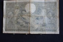 78 / Belgique - 100 Francs-20 Belgas, 1942 -   Nationale Bank Van Belgie   /  N° 8281.K.587 - [ 2] 1831-... : Royaume De Belgique
