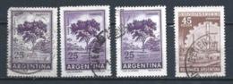 ARGENTINA 1966 (O) USADOS MI-870 (3)+872 YT-733 (3)+734 VARIOS - Oblitérés