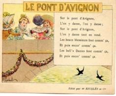 - PUB Alcool De Menthe Ricqlès - Le Pont D'Avignon  -20264- - Pubblicitari