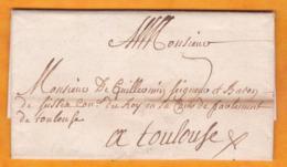1716 -  Lettre Scellée Avec Correspondance En PORT PAYE De Pavia, Lombardie, Autriche Vers Toulouse, France - Italie